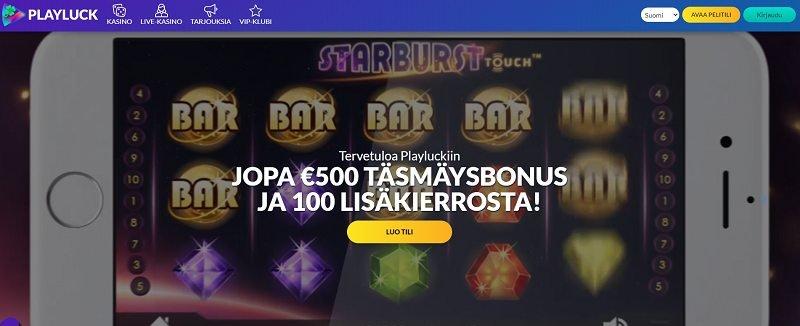 playluck casino etusivu