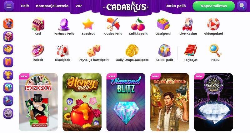 cadabrus casino pelivalikoima