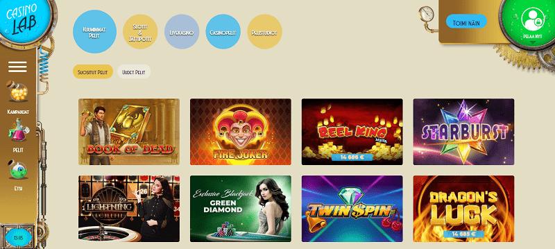 Casinolab pelit