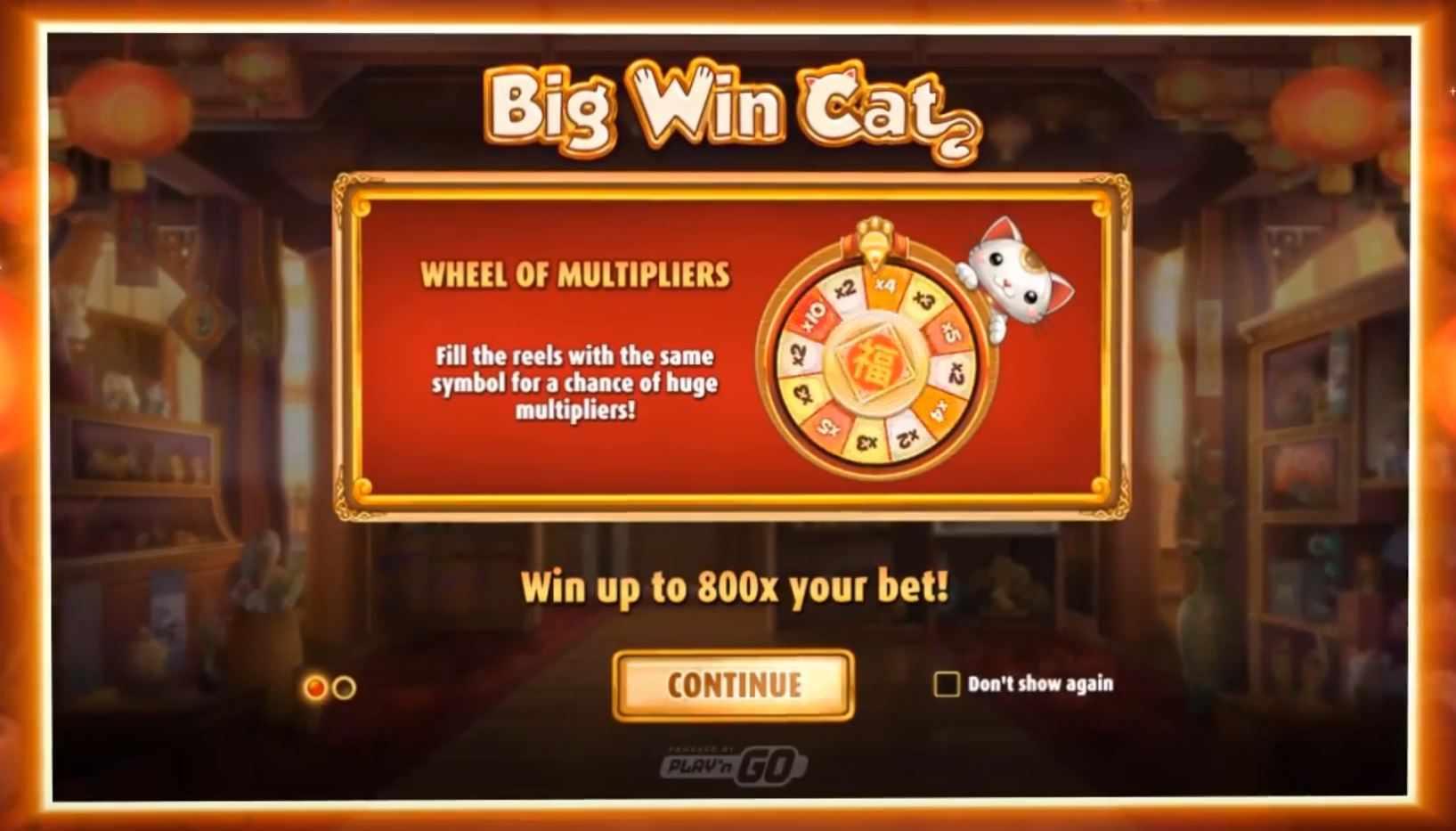 big win cat peliohjeet