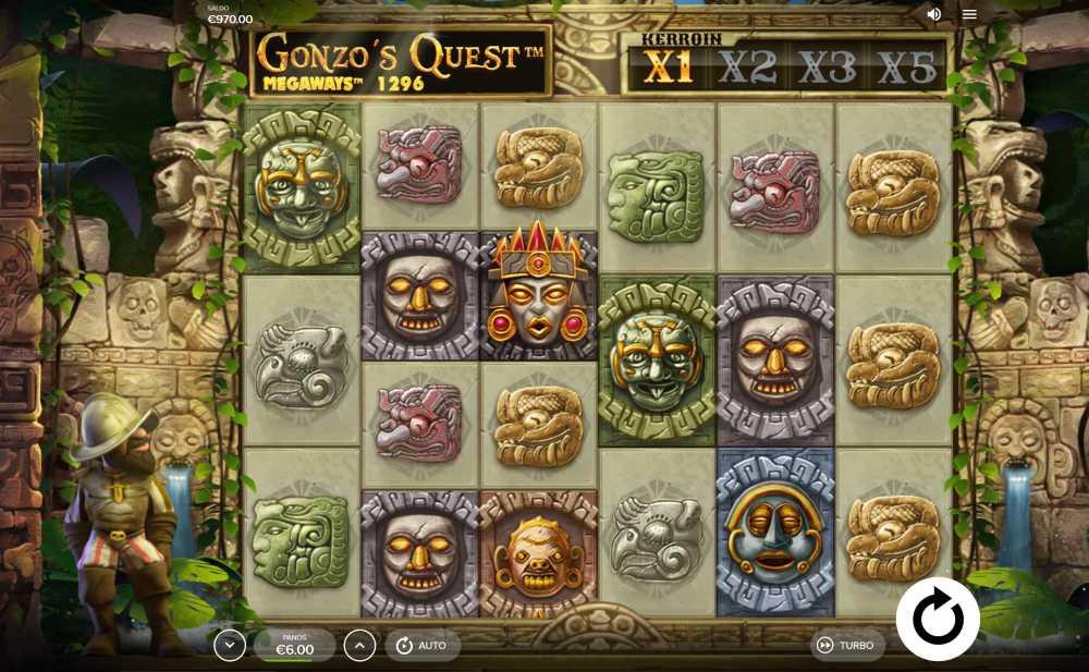 gonzo's quest: megaways pelaaminen