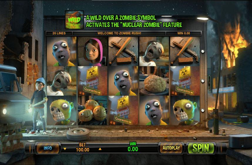 zombie rush slotti leander games