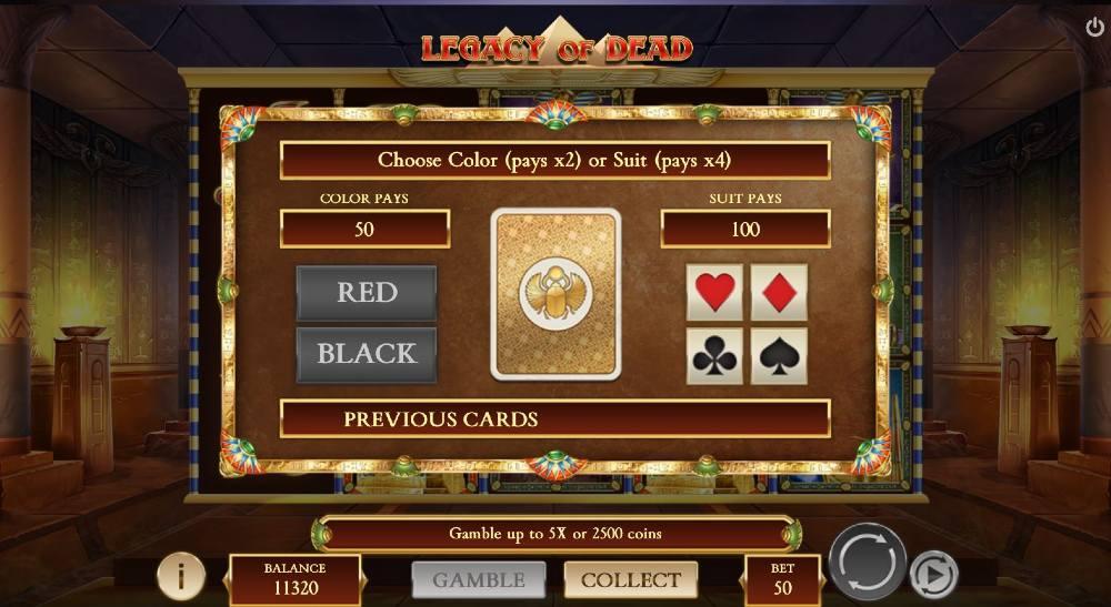 kegacy of dead peliarvostelu gamble toiminto