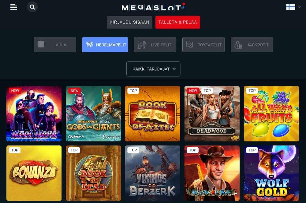 megaslot casino pelivalikoima