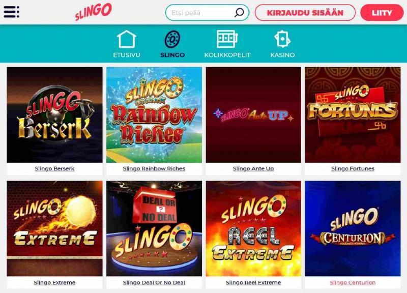 slingo casino slingo-pelit