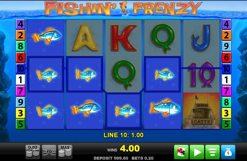fishin frenzy kolikkopeli kalavoitto