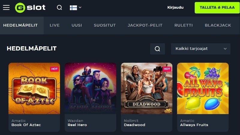 gslot casino arvostelu ja kokemuksia pelivalikoima