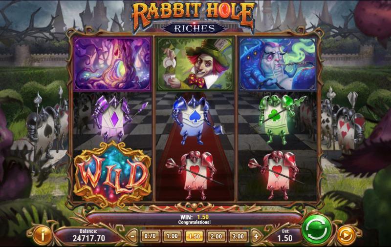 rabbit hole riches peruspeli