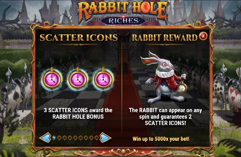 rabbit hole riches scatter symbolit