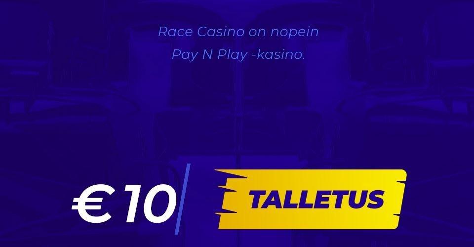 race casino talletus ja kotiutus