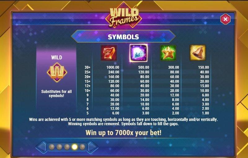 wild frames arvostelu arvokkaat symbolit