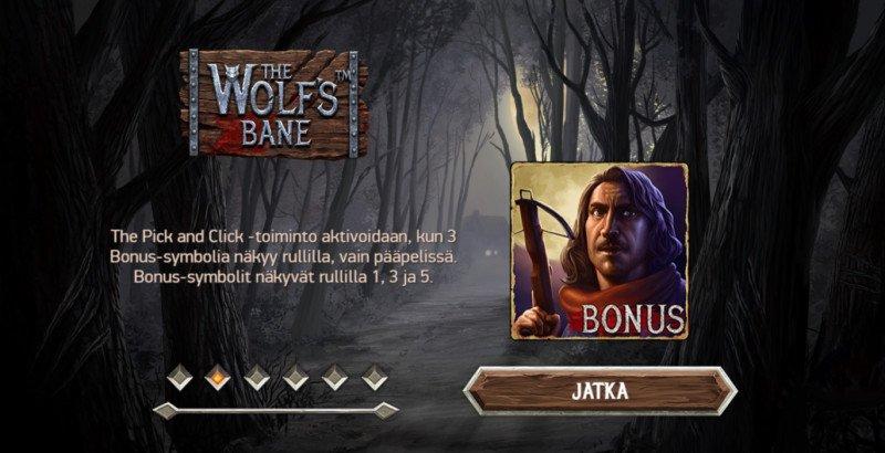 wolf's bane peli bonuspeli