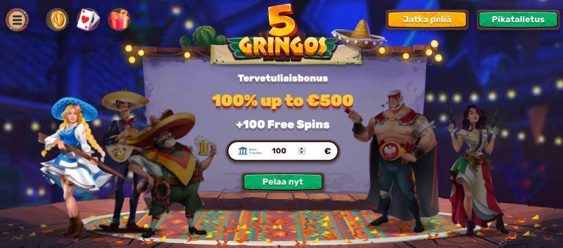 5gringos casino etusivu