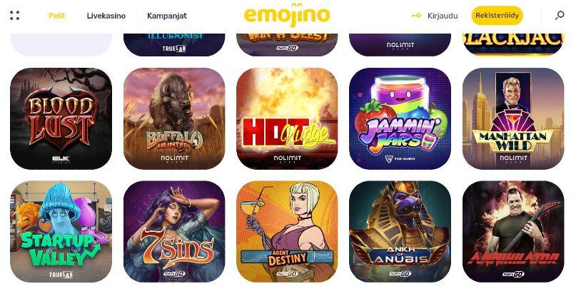 emojino casino pelivalikoima