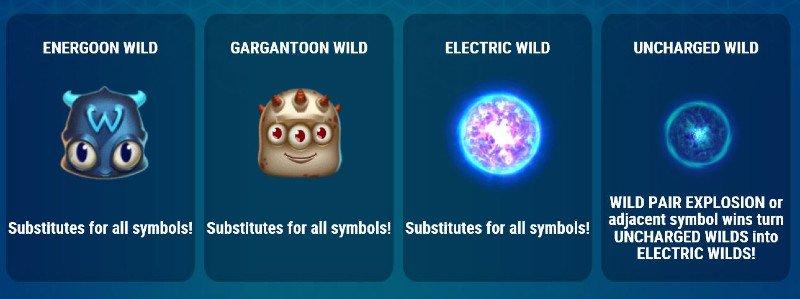 reactoonz 2 wild symbolit