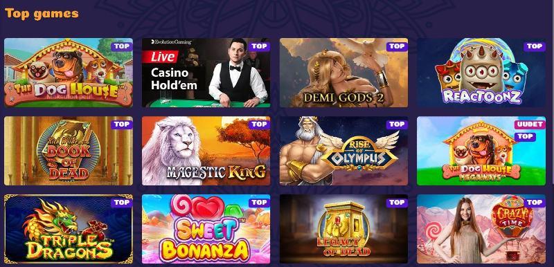 samosa casino pelivalikoima suositut pelit