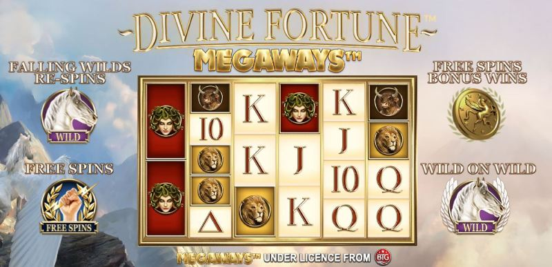 divine fortune megaways bonustoiminnot