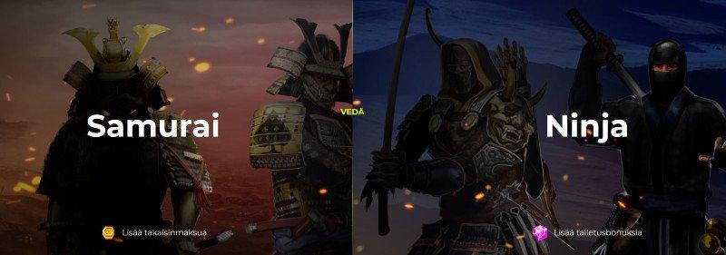 spin samurai casino vip ohjelma ninja samurai
