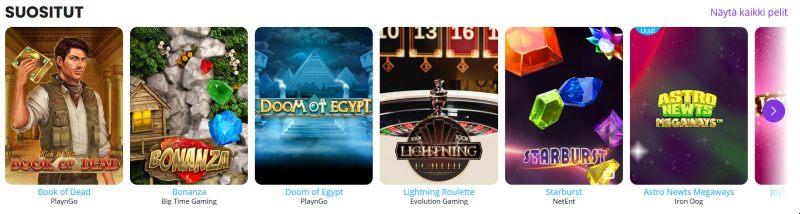 barz casino parhaat pelit