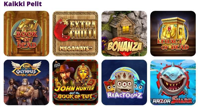 spinurai casino pelivalikoima kolikkopelejä