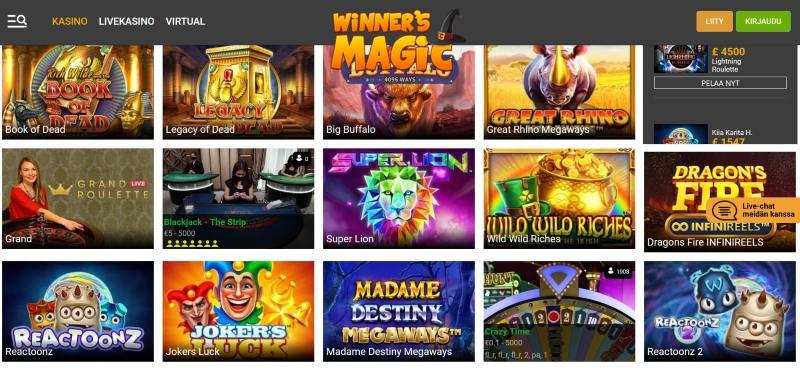winners magic etusivu