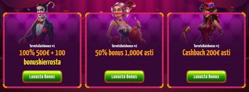 winota casino bonus vaihtoehdot