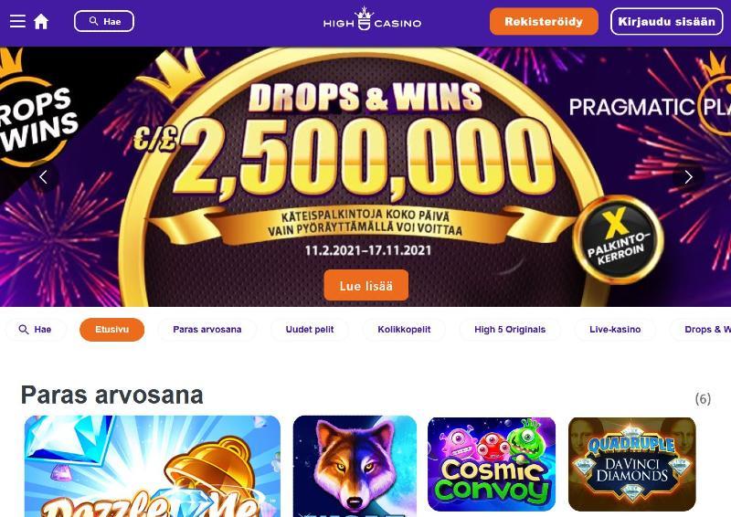 high 5 casino etusivu tervetuloa