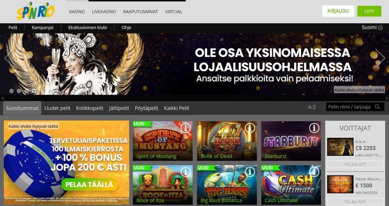spin rio casino etusivu tervetuloa