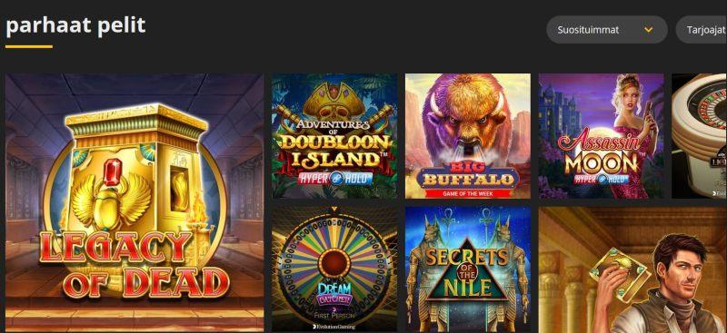 18bet casino pelivalikoima parhaat pelit