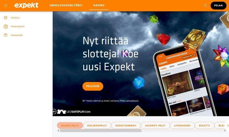 expekt casino etusivu tervetuloa Expekt Suomi