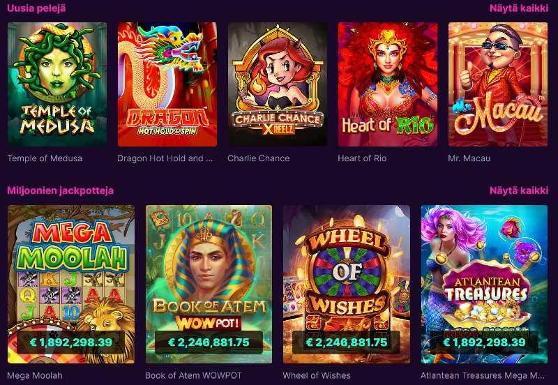 kanuuna casino pelivalikoima