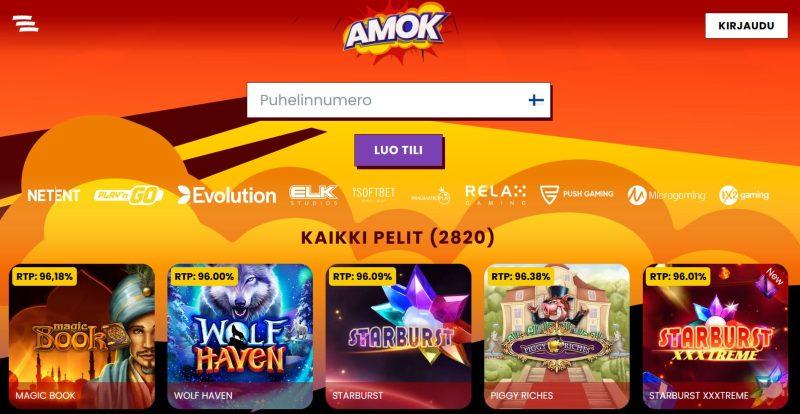 amok casino etusivu tervetuloa