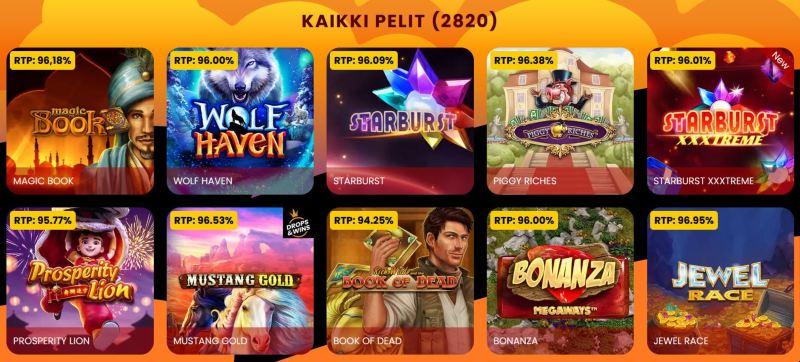 amok casino pelivalikoima