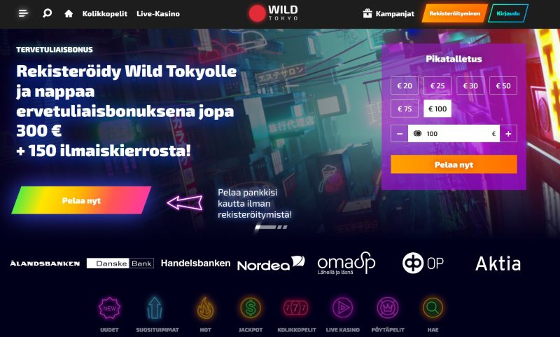 wild tokyo casino etusivu suomi