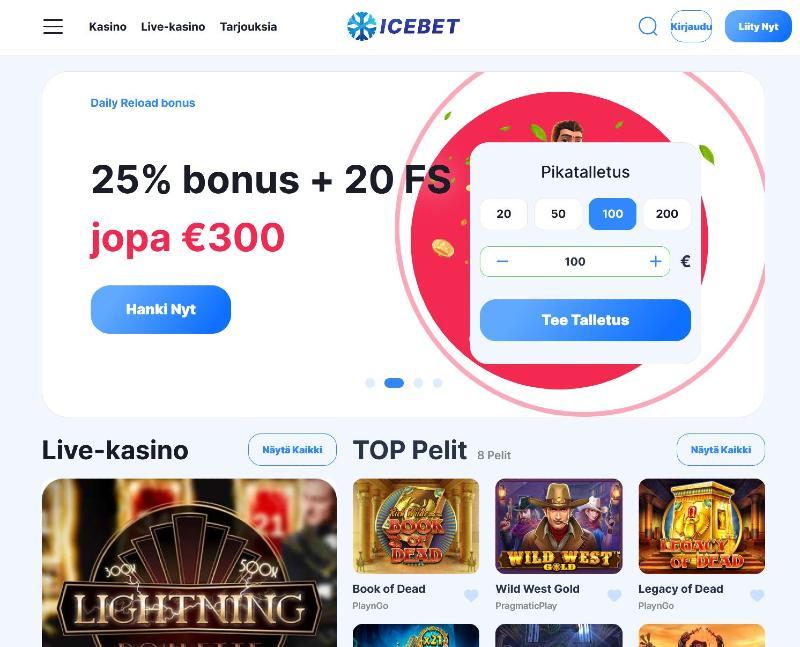 icebet casino suomi etusivu