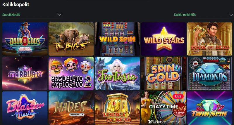 one casino kolikkopelit