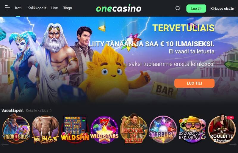 one casino suomi tervetuloa etusivu